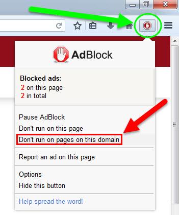 Adaware pop up blocker